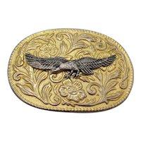 Vintage Metal Belt Buckle Flying Eagle 1970-80s Good Condition