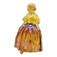 Vintage Wheaton Southern Belle Woman Figurine Iridescent Marigold Color 1975-79 Good Condition