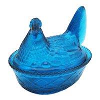 Vintage Westmoreland Blue Hen on Nest 1970-80s Good Condition
