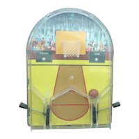 Vintage Table Top Pin Ball Basketball Game 1950s Good Condition
