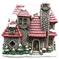 Vintage Lefton Colonial Village Hand Painted Porcelain House 1986-#06868 Good Condition