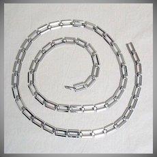 50% Off Unique Vintage Signed Napier Silver Link Belt UNWORN