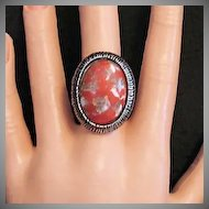 50% Off Awesome Vintage Unsigned Florenza Glass Stone Statement Ring
