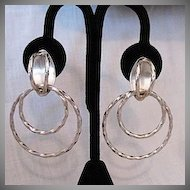 50% Off Unique Vintage Sterling Silver Signed TN-86 Taxco Mexican Pierced Earrings