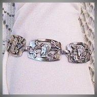 50% Off Rare Vintage Greek Goddess Sterling Silver Arts Crafts Era Bracelet