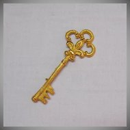 50% OFF Beautiful Vintage Signed Coro Skeleton Key Brooch 4 Inches Long