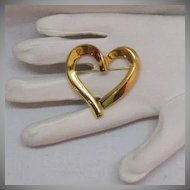50% OFF Asymmetrical Vintage Golden Heart Brooch BOLD