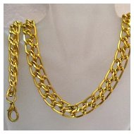 50% OFF Vintage Gold Eloxal Double Link Chain Necklace Bracelet Set