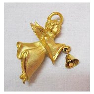 50% Off Signed G G USA Vintage Guardian Angel with Bell Brooch