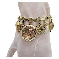 50% OFF Unusual Vintage Faux Watch Parts Charm Bracelet
