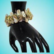 50% OFF Unusual Vintage Genuine Blister Pearl Stretch Bracelet