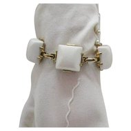 50% OFF Perfect White Vintage Lucite Brick Bracelet