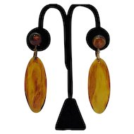 50% OFF Vintage Tortoise Shell Colored Lucite Dangle Earrings