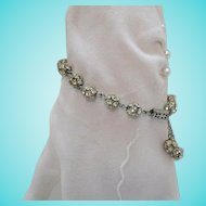 50% OFF Awesome Vintage Silver Orb Rhinestone Bracelet