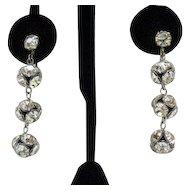 50% OFF Vintage Rhinestone Orb Dangle Earrings Amazing