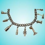 50% Off Unusual Signed Enco Vintage Charm Bracelet