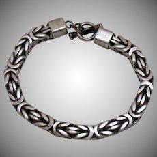 Vintage Lois Hill Unisex Collection Box Weave Bracelet~84 grams!