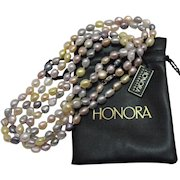 50% OFF Vintage Estate Honora Fresh Water Cultured Baroque Pearl Necklace 54 Inches Long