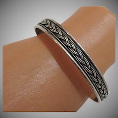 50% Off Gorgeous Vintage Sterling Silver Cuff Bracelet