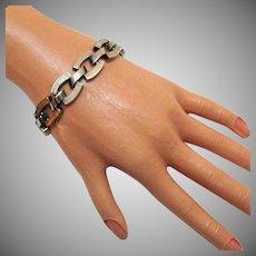 50% Off Awesome Vintage Sterling Silver Link Bracelet 53.9 Grams