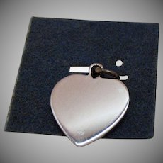 50% Off Vintage Sterling Silver Heart Signet Charm by Wells