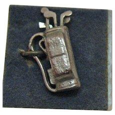 50% Off Vintage Sterling Silver Golf Clubs Bag Charm Signed Wells