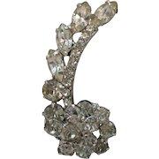 50% Off Amazing Vintage Tiered Chrystal Rhinestone Wrap Clip Earrings