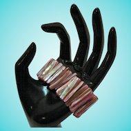50% Off Awesome Vintage Pink Mollusk Abalone Stretch Bracelet