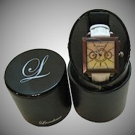 Vintage Luxury Landoux Fine Jewelry Chronograph Wrist Watch with Original Box!