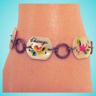 50% OFF Rare Vintage Chicago Worlds Fair MOP Bracelet