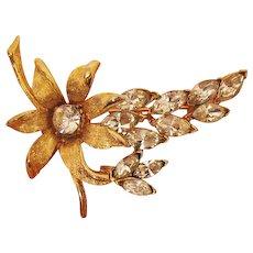 50% OFF Big Gorgeous Vintage Marquise Rhinestone Flower Brooch