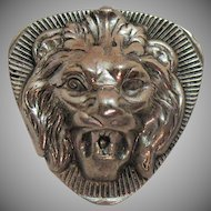 Vintage Signed Freirich Lion Head Brooch