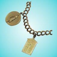 50% Off Rare Vintage Avon 'Presidents Award' Charm Bracelet~1965