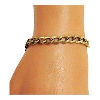 Vintage 12K Yellow Gold Filled Link Charm Bracelet Free Shipping