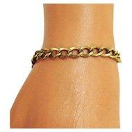 50% Off Vintage Handmade 12K Yellow Gold Filled Link/Charm Bracelet
