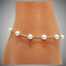 50% Off Vintage Honora 14K Gold Freshwater Pearl Bracelet