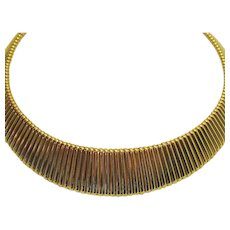 50% Off Signed RuAn Vintage Contoured Omega Necklace