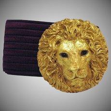 Vintage Charmant Belts Inc of Beverly Hills Lion's Head Belt