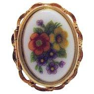 BOOK Signed Avon Vintage French Flowers Locket Ring 1975 Original Box Jacket