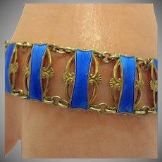 Superb Signed Ivar Holt Norway Vintage Sterling Silver Guilloche Bracelet Gold Vermeil Overlay