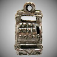 Unique Sterling Silver Vintage Cash Register Charm