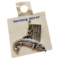 Vintage Signed Bell Trading Company Sterling Silver Bagnell Dam Missouri Figural Bass Charm with Original Card Free Shipping