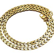 Signed Monet Vintage 14K Yellow Gold Plated Double Sided Chain Necklace Divine!