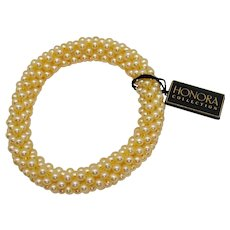 Vintage Honora Collection Fresh Water Seed Pearl Stretch Bracelet Original Tax