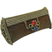 Vintage Jeweled Mesh Victorian Revival Lipstick Purse