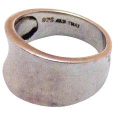 50% OFF Vintage Signed ALX Thailand Sterling Silver Wide Saddle Ring Size 6 ½