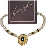 Signed Kenneth Jay Lane for Avon New York Collection Vintage Necklace Original Box Unworn 1991