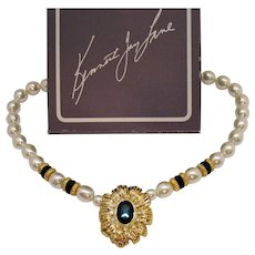 BOOK Signed Kenneth Jay Lane for Avon New York Collection Vintage Necklace Original Box Unworn 1991