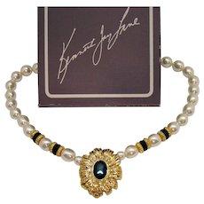 BOOK Signed Kenneth Jay Lane for Avon New York Collection Vintage Necklace Original Box Unworn 1991