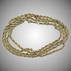 Elegant 14K Gold Vintage Estate Find 26 Inch Long Chain Necklace 13.5 Grams